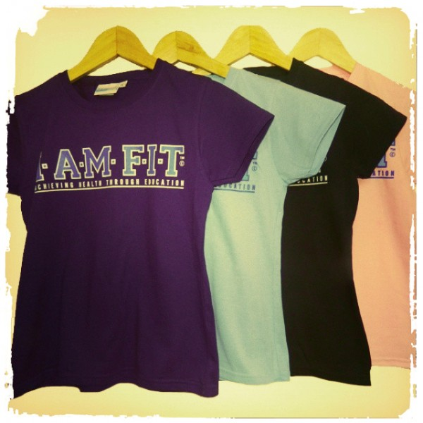 I AM FIT girls tees