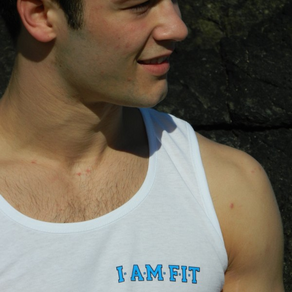 mens vest I AM FIT